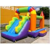 aluguel de tobogã inflável para festa infantil sp em Itapevi