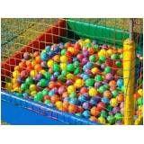 locação de piscina de bolinhas para festa infantil preço na Água Branca